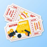 Ensemble de billets de film d'action