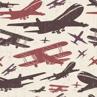 Plantilla retro retro de avión