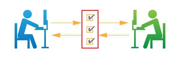 Netwerk protocol vectorillustratie