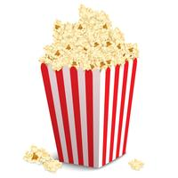 Popcorn doos geïsoleerd