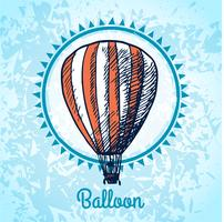 Boceto de cartel de globo de aire caliente