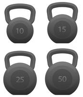 Kettlebells Set isoliert Vektor-Illustration