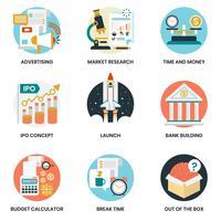 Geschäftsikonen eingestellt für Geschäft, Marketing