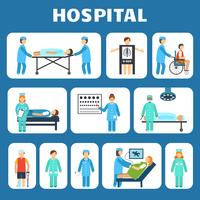 Medical flat pictograms set