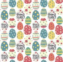 happy easter day cute colourful eggs seamless pattern