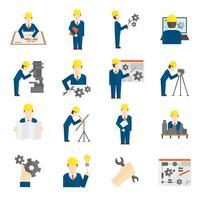 Conjunto de iconos de ingeniero