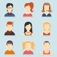Conjunto de iconos de avatar