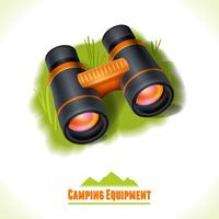Símbolo de camping binocular