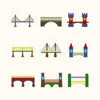 Conjunto de ícones de ponte vetor