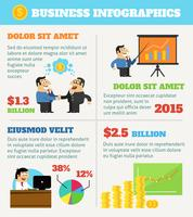 Business life infographics