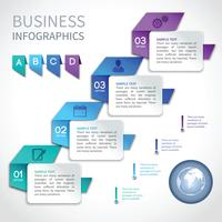 Origami infographics business template
