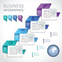Modello di business di origami infografica