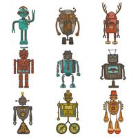 hipster robot set