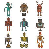 Robot conjunto de hipster