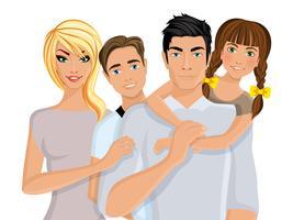 Famiglia felice realistica
