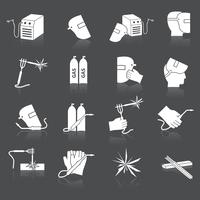Welder icons set