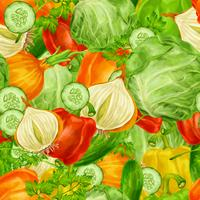 Vegetables mix seamless background