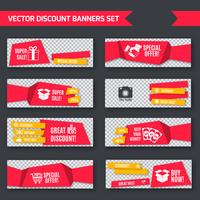 Discount banners red set