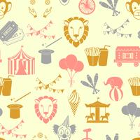 Circus seamless pattern vector
