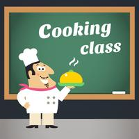 Cartel publicitario de la clase de cocina.