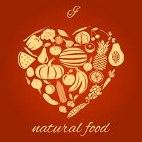 Coeur de la nourriture naturelle