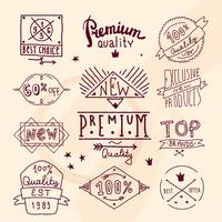 Emblema retro de calidad premium