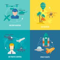 Set di icone di aeromobili