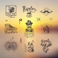 Set of hipster emblems