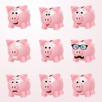 Piggy bank emoties