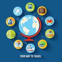 Flaches Konzept reisen
