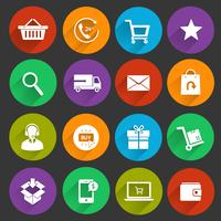 Shopping E-commerce Icons vector