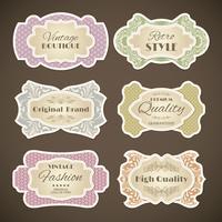 Set di etichette vintage