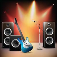 Music stage background vector