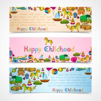 Toys banners horizontal set