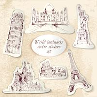 World landmark stickers