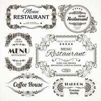 Étiquettes florales de restaurant