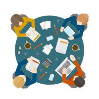 Reunión de negocios en la vista superior