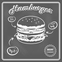 Cartel retro hamburguesa