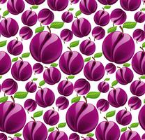 Plum seamless pattern