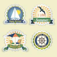 Emblemas de mar de verano