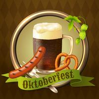 Cartel de Octoberfest de las tazas de cerveza