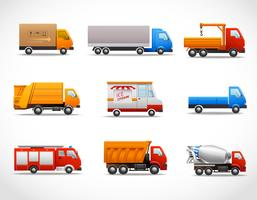 Realistic Truck Icons vector