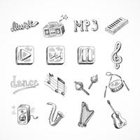 Set van muziek iconen