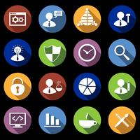 SEO Icons Set flach