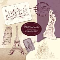 Wereld landmark scrapbooking kit