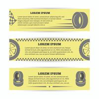 Tire banners set