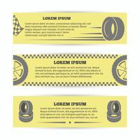 Conjunto de banners de neumáticos