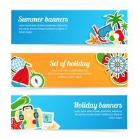 Conjunto de banners de vacaciones
