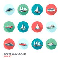 Boats Icons Set
