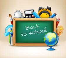 School chalkboard frame